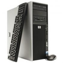 Station Graphique HP Workstation Z400  - Quad-Core Xeon - 8Go -128Go SSD + 500Go - QUADRO 1Go - Windows 10 64bits