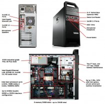 Station LENOVO S30 - Xeon  E5-1607 V2 à 3Ghz - 16Go - 512Go SSD - QUADRO K2000 - USB3 - Win 10 64bits