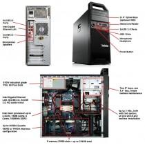 Station LENOVO S30 - Xeon Hexa core E5-2630 à 2.3Ghz - 8Go - 128Go SSD + 250Go - QUADRO 2000 - USB3 - Win 10 64bits
