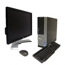 DELL Optiplex 390 SFF - INTEL CORE I3 2120 à 3.3Ghz - 4Go / 250Go - DVDRW - HDMI - Win 7 PRO + LCD 19 DELL