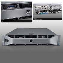 DELL POWEREDGE R720 RACK  2U - QUAD CORE XEON E5-2609  à 2.4Ghz - 32Go RAM - 6*300Go 10K - DVD+/-RW - 2 alims redondantes