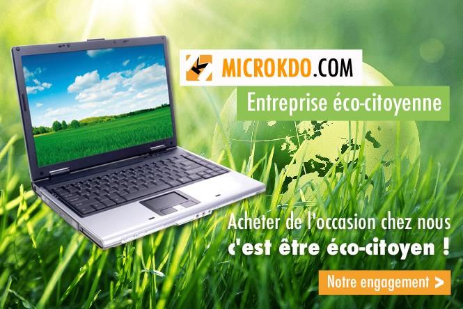 Acheter du matériel d'occasion chez Microkdo, c'est faire un geste éco-citoyen