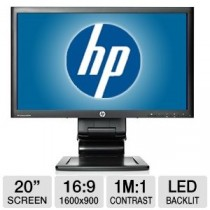 "Moniteur Pro HP LA2006X 20"" 16/9 LED 1600*900 - 5Ms - DVI-VGA - DISPLAYPORT - Hub USB"