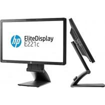 "Moniteur LCD 22"" WEBCAM - HP EliteDisplay E221C - FULL HD 1920*1080- DVI, VGA, Displayport - USB, fonction Pivot"