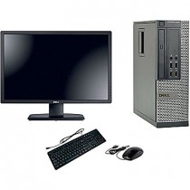 DELL Optiplex 7010 - DUAL CORE G645 à 2.9Ghz - 4Go / 250Go - DVD+/-RW - Windows 10 64Bits + LCD 20""