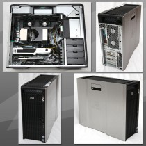 Station Graphique HP Workstation Z600 - 2 x Quad-Core Xeon 2.4Ghz - 16Go - 2*300Go - QUADRO 4000 - Windows 10 64Bits