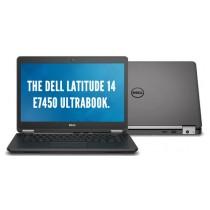 """DELL LATITUDE E7450 Core I7-5600U à 2.6Ghz - 8Go - 256Go SSD -14"""" FHD - WEBCAM + HDMI - Win 10 64bits - GRADE B"""