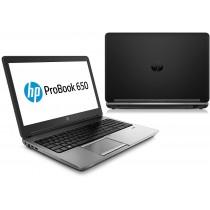 "HP PROBOOK 650G1 Core I7 4600M à 2.9Ghz - 8Go - 256Go SSD - 15.6"" FULL HD - DVDRW - Win 10 64bits - GRADE B"