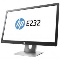 "Ecran 23"" LED HP EliteDisplay E232 - fonction pivot - HDMI + VGA + DP - Hub USB - FULL HD - GRADE B"