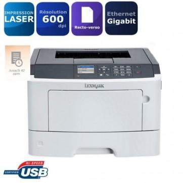Lexmark imprimante laser MS510dn - RESEAU / DOUBLE BAC / RECTO-VERSO - quasi neuve